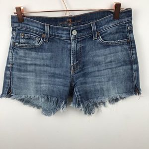 7 For All Mankind Long Legs Cut Off Shorts 29